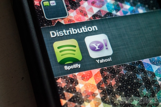 Spotify Yahoo distribution