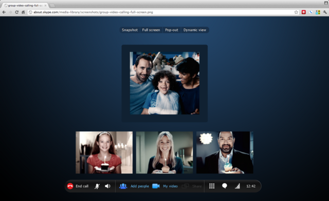 Skype Chrome browser mock-up