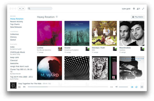 rdio redesign