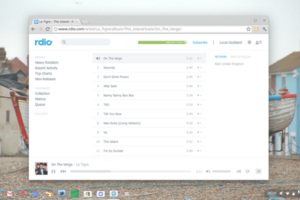 Rdio screenshot