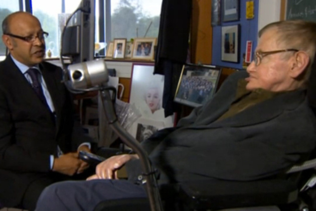photo image Stephen Hawking on how the Higgs boson discovery cost him $100