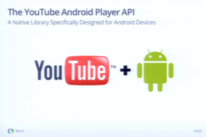 YouTube Android API slide