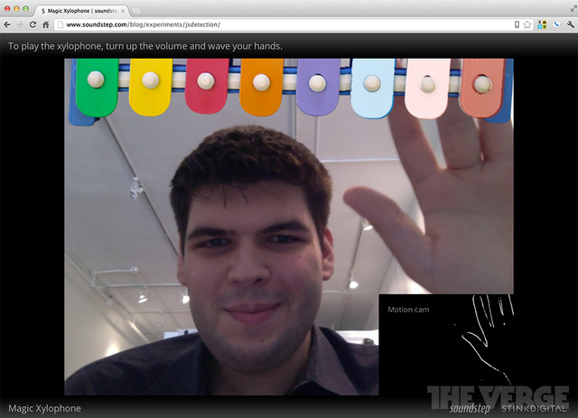 Chrome Beta 21 webcam magic xylophone