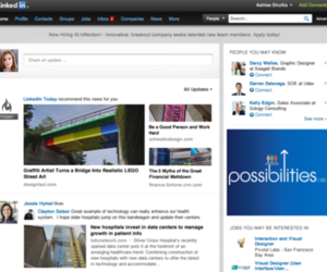 LinkedIn new homepage