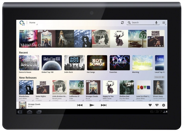 Sony Music Unlimited Android tablet