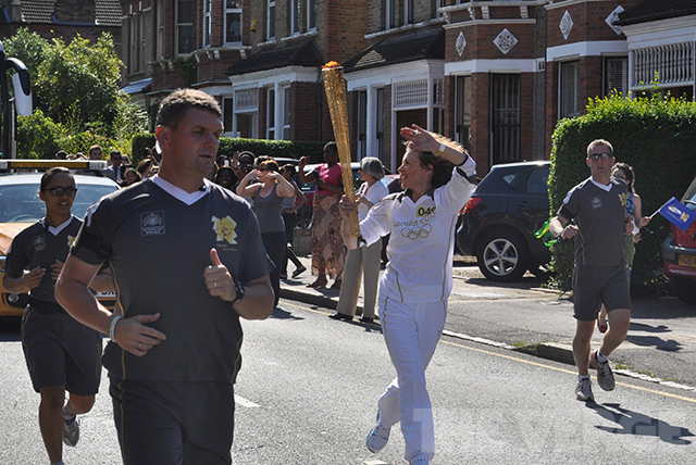 London 2012 Olympics torch stock 2