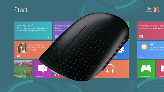 Windows 8 touch mouse