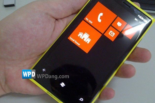Nokia Lumia yellow prototype (WPDang)