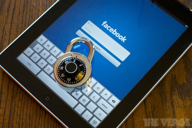 Facebook Password lock