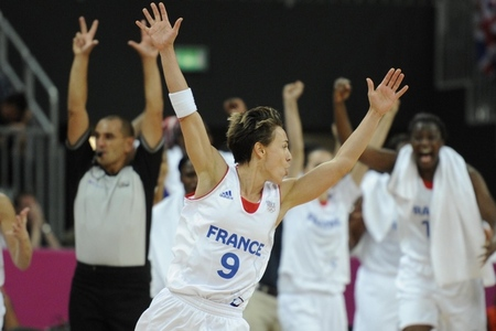 If France hopes to challenge the USA women's basketball team, they'll need to get hot from the beyond the arc and get another spectacular performance from point guard Celina Dumerc. Photo by Richard Mackson-USA TODAY Sports.