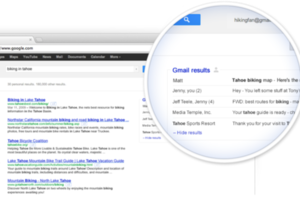 Gmail in Google Search