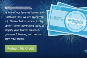 Twitter HootSuite advertising promo