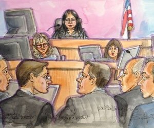 Apple v. Samsung trial sketch