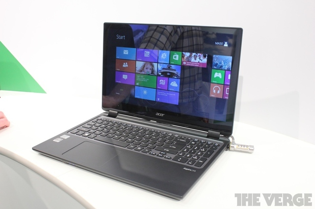 Gallery Photo: Acer touch-enabled Aspire M3 and V5