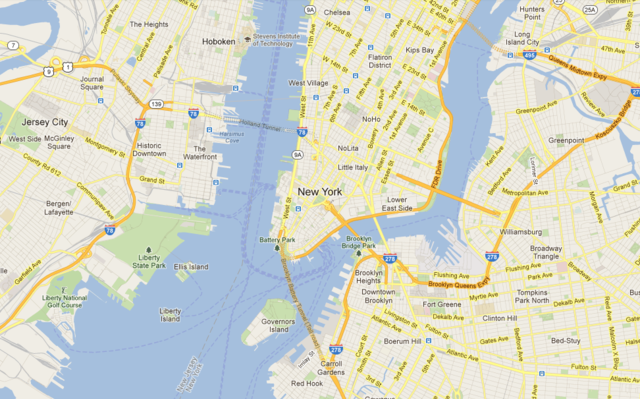 Google Map of New York City