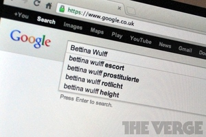 Bettina Wulff autocomplete results