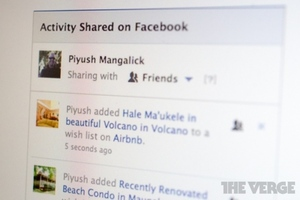 Facebook Shared Activity