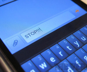 SMS STOP message