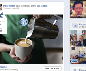 facebook gifts timeline