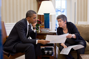 Obama and Napolitano (flickr)