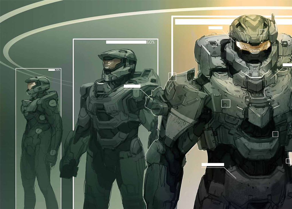 Master chief s evolution the concept art of halo 4