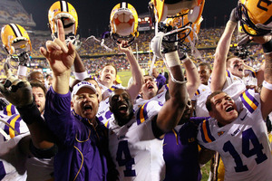 2010 LSU football may well be remembered as the year Miles earned the fan's respect.  (Photo by Kevin C. Cox/Getty Images)