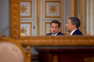 Nicholas Sarkozy White House Press Photo