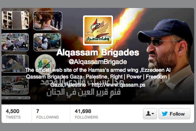 alqassam brigades twitter hamas