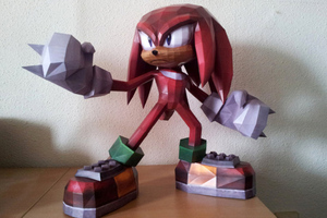 Knuckles papercraft