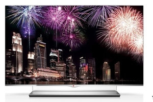 LG OLED tv stock press