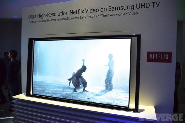Netflix UHD streaming on a Samsung 4k TV photos