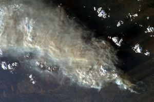 nasa iss brushfire