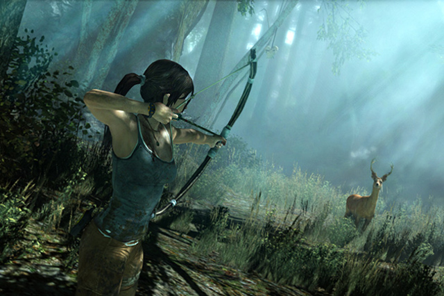 Lara Croft hunting