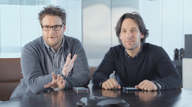 Paul Rudd Seth Rogen Samsung Super Bowl commercial