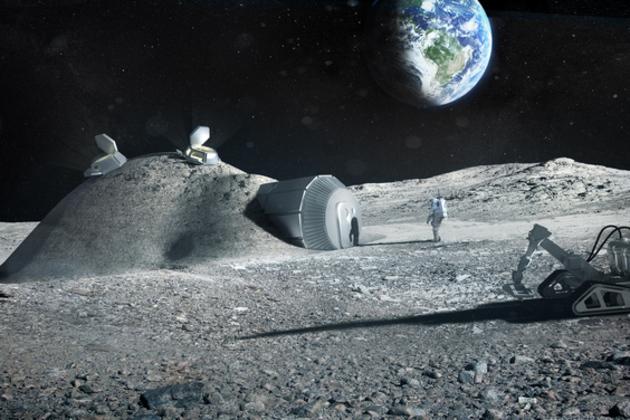 3d printed lunar base