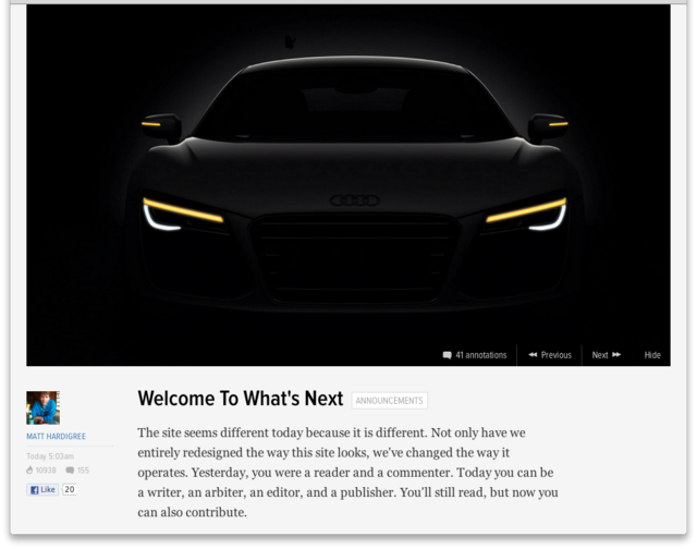 Jalopnik reboot hints at new era for Gawker where readers become writers
