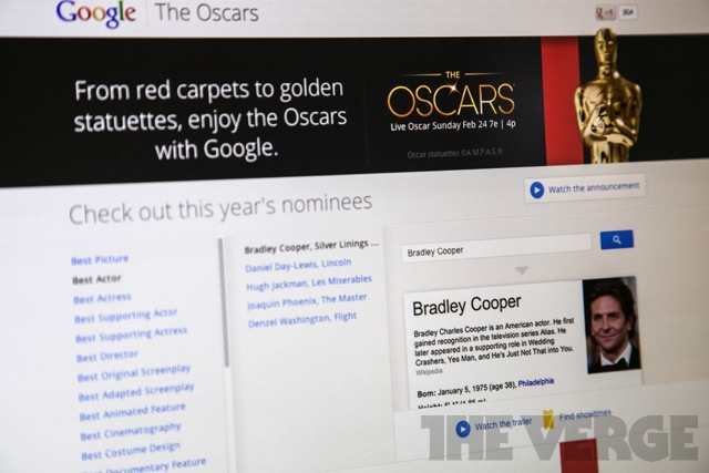 Google Oscars portal