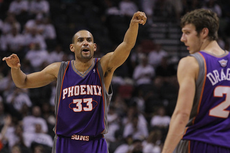 Grant Hill IS A MAN!  (Photo by Ronald Martinez/Getty Images)