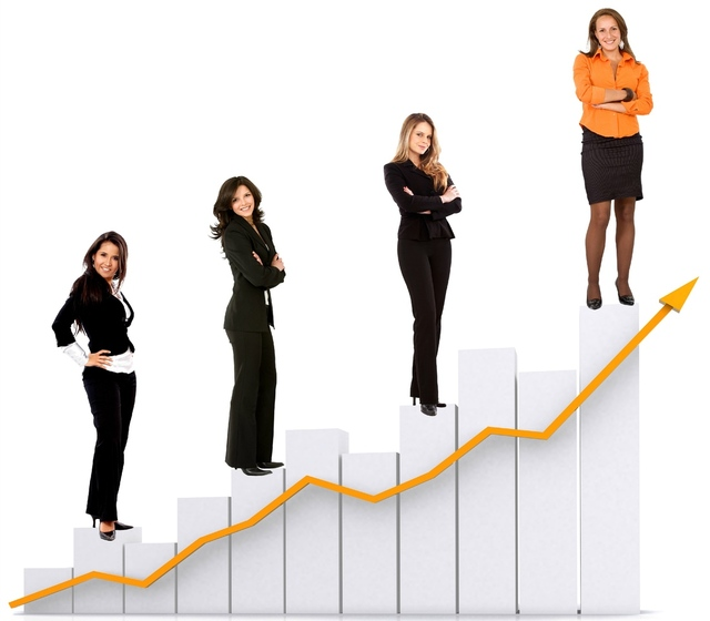 women on bar graph official