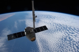 SpaceX Dragon docked to space station