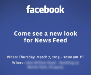 fb new newsfeed invite