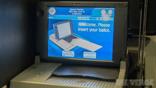 US Election Voting Machine scanner (STOCK)