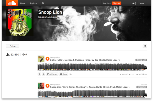 Snoop Lion Soundcloud