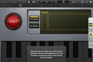 garageband audiobus ipad screenshot