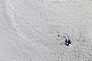 Cloud vortices in South Indian Ocean from NASA Terra satellite. NASA/GSFC/Jeff Schmaltz/MODIS Land Rapid Response Team on Flickr.