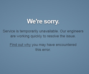 Tumblr Down Message