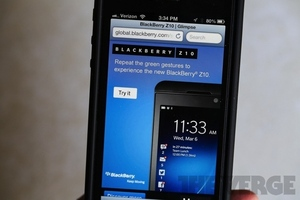 BlackBerry 10 iOS ad
