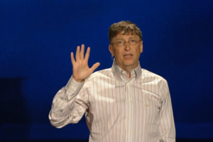 Bill Gates TED screengrab