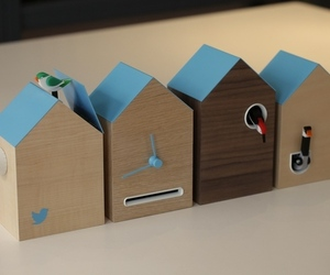 Flock Twitter clock
