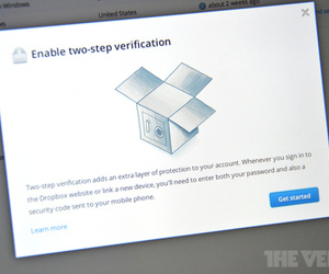 Dropbox two step authentication (STOCK)